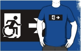 Accessible Means of Egress Icon Adult t-shirt 131