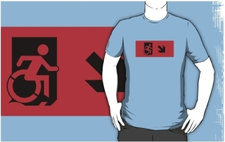 Accessible Means of Egress Icon Adult t-shirt 132