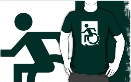 Accessible Means of Egress Icon Adult t-shirt 133