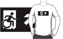 Accessible Means of Egress Icon Adult t-shirt 134