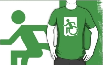 Accessible Means of Egress Icon Adult t-shirt 135
