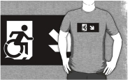 Accessible Means of Egress Icon Adult t-shirt 136
