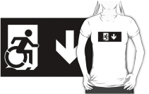 Accessible Means of Egress Icon Adult t-shirt 137