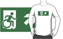 Accessible Means of Egress Icon Adult t-shirt 138
