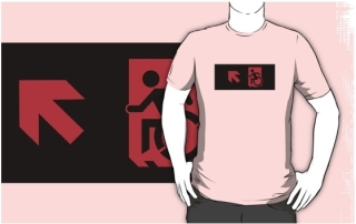 Accessible Means of Egress Icon Adult t-shirt 14