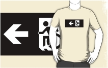 Accessible Means of Egress Icon Adult t-shirt 142