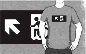 Accessible Means of Egress Icon Adult t-shirt 144
