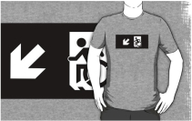 Accessible Means of Egress Icon Adult t-shirt 145
