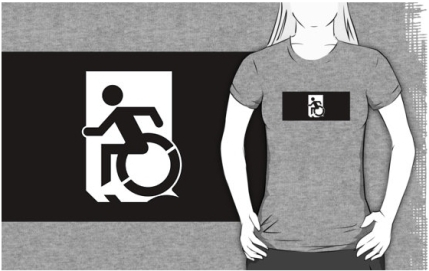 Accessible Means of Egress Icon Adult t-shirt 146