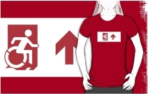Accessible Means of Egress Icon Adult t-shirt 148