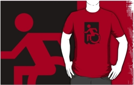 Accessible Means of Egress Icon Adult t-shirt 151