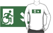 Accessible Means of Egress Icon Adult t-shirt 152