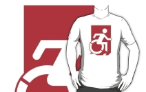 Accessible Means of Egress Icon Adult t-shirt 153