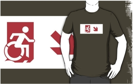 Accessible Means of Egress Icon Adult t-shirt 155