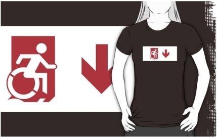 Accessible Means of Egress Icon Adult t-shirt 156