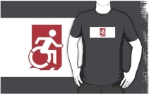 Accessible Means of Egress Icon Adult t-shirt 157