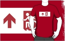 Accessible Means of Egress Icon Adult t-shirt 158