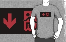 Accessible Means of Egress Icon Adult t-shirt 16