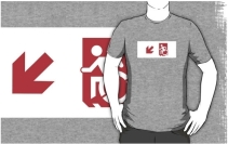 Accessible Means of Egress Icon Adult t-shirt 161