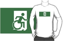 Accessible Means of Egress Icon Adult t-shirt 18