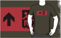 Accessible Means of Egress Icon Adult t-shirt 2