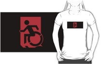 Accessible Means of Egress Icon Adult t-shirt 20