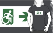 Accessible Means of Egress Icon Adult t-shirt 22