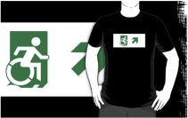 Accessible Means of Egress Icon Adult t-shirt 23
