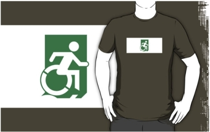 Accessible Means of Egress Icon Adult t-shirt 27