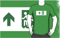 Accessible Means of Egress Icon Adult t-shirt 28