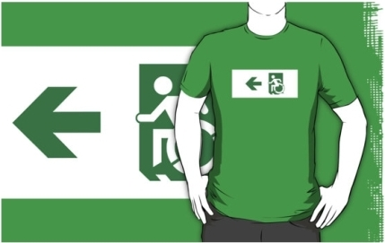 Accessible Means of Egress Icon Adult t-shirt 29