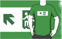 Accessible Means of Egress Icon Adult t-shirt 30