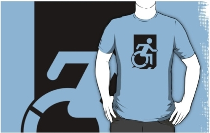 Accessible Means of Egress Icon Adult t-shirt 31