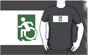 Accessible Means of Egress Icon Adult t-shirt 37
