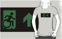 Accessible Means of Egress Icon Adult t-shirt 38