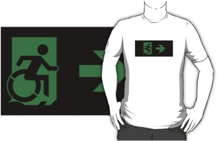 Accessible Means of Egress Icon t-shirt 39