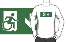 Accessible Means of Egress Icon Adult t-shirt 4