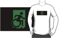 Accessible Means of Egress Icon Adult t-shirt 43
