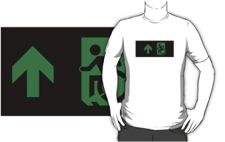 Accessible Means of Egress Icon Adult t-shirt 44