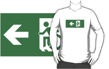 Accessible Means of Egress Icon Adult t-shirt 47