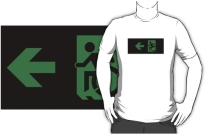 Accessible Means of Egress Icon Adult t-shirt 49
