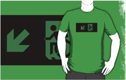 Accessible Means of Egress Icon Adult t-shirt 51