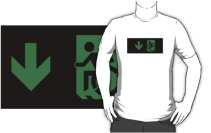 Accessible Means of Egress Icon Adult t-shirt 52