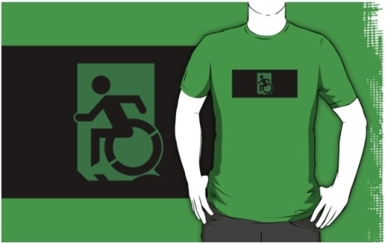 Accessible Means of Egress Icon Adult t-shirt 53