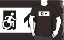 Accessible Means of Egress Icon Adult t-shirt 54