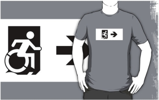 Accessible Means of Egress Icon Adult t-shirt 55