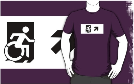 Accessible Means of Egress Icon Adult t-shirt 56