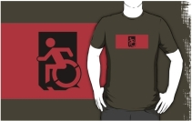 Accessible Means of Egress Icon Adult t-shirt 57
