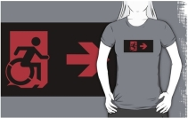Accessible Means of Egress Icon Adult t-shirt 6