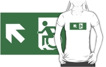 Accessible Means of Egress Icon Adult t-shirt 61